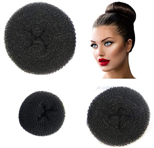 Buy Donut Bun Maker 3 Piece Set Of Beautiful Hair Bun Makers Great For Long Hair 1 Small 1 Medium 1 Large Black Online At Low Prices In India Amazon In
