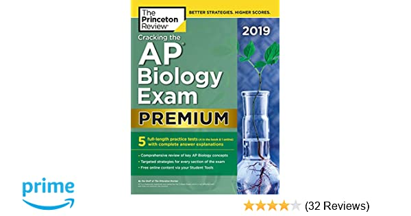 Amazon com: Cracking the AP Biology Exam 2019, Premium