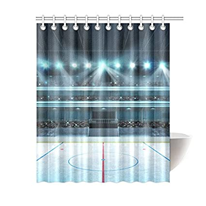 Artsadd Hockey Stadium With Fans Crowd Waterproof Fabric Shower Curtain 60x72
