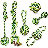JIATO Dog Rope Toys 6 Pack Chew Toys for Dog Durable Cotton Rope Toys Sets for Medium and Large Dogs (Pack of 6)