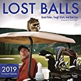 Lost Balls 2019 12 x 12 Inch Monthly Square Wall Calendar by Hachette, Golf Tough Shot Fun Humor (Multilingual Edition)