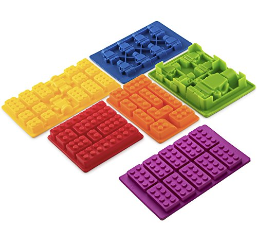 Lego Silicone Molds With Building Blocks And Robots - 6 Piece (Lego Giant Robot)