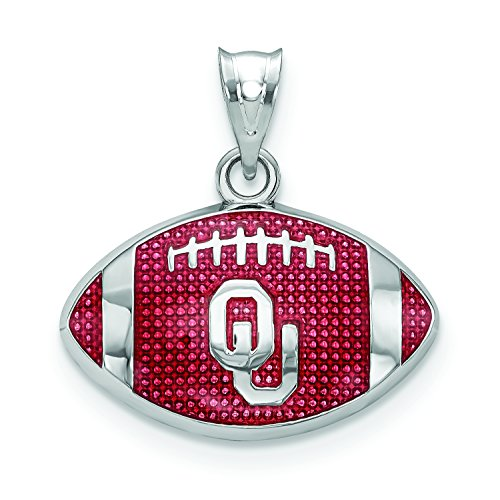 University of Oklahoma Enameled Football Pendant