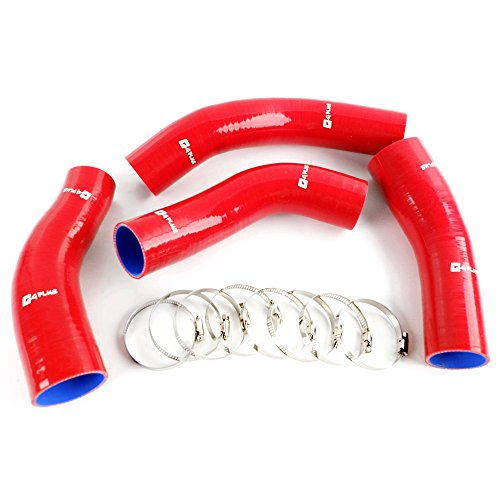For 1990-1996 NISSAN FAIRLADY 300ZX Z32 Silicone Intercooler Turbo Hose Kit Clamps Red 4PCS (300zx Intercooler)