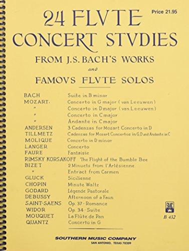 Flute Bach - 24 Flute Concert Studies: Unaccompanied Flute