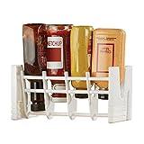 Upside Down Condiment Bottle Holder, Rack, Adjustable for Most Bottles and Refrigerator Doors