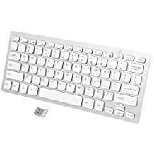 JETech 2.4GHz Wireless Keyboard for Windows (White)