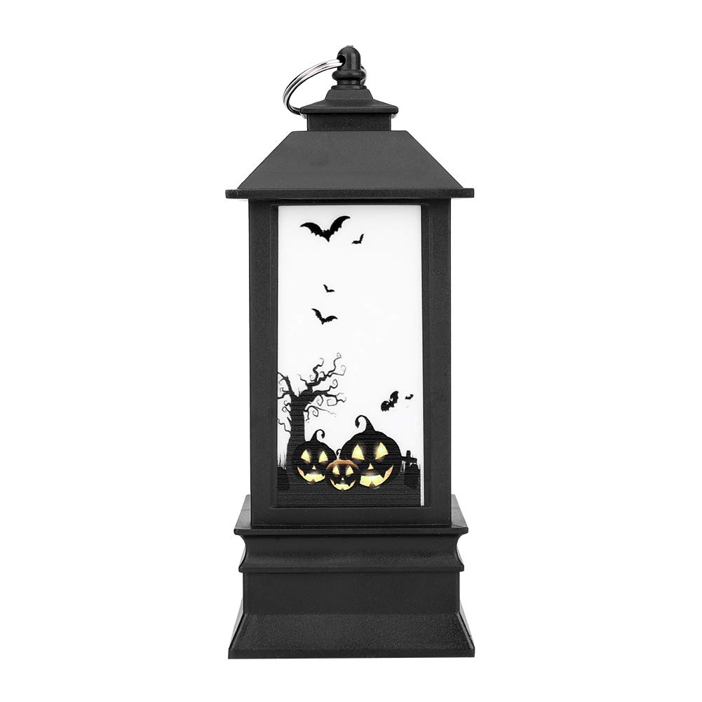 Garosa Halloween Decorations Creative Oil Lamp Simulation Flame Lights with Battery Powered Festival Holiday Decorations Accessory Party Supplies Festival Decor Tool (Pumpkin)