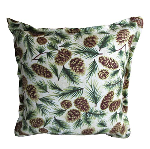 6 X 6 Inch Balsam Filled Pillow. (Small Pine Cones and Small Needles) (Cones Fir Balsam)