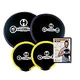 Hyperwear SandBell SLAM! Workout DVD with 4 Intro SandBell Weights (33 lbs Capacity)