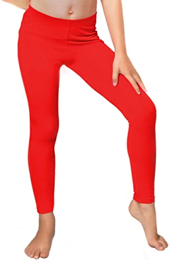 Crazy Chick Children Red Cotton Full Length Leggings 10-11 Years, Black