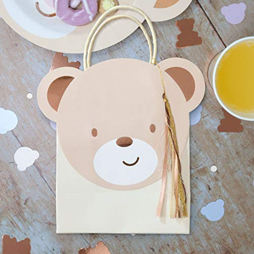 Hatton Gate Teddy Bear Shaped Party Bags 8 bags per pack