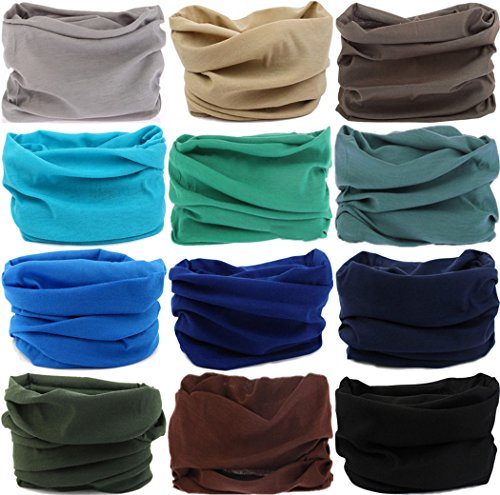 d8e4e1c8f74 VANCROWN Headband Head Wrap Headwear Sport Sweatband 280 Patterns 12 in 1 Magic  Scarf 12PCS 9PCS   6PCS