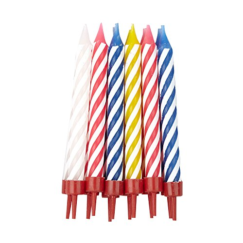 Multi Spiral Candles with Holders Pack of 12]()