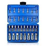 32pc Master Hex Bit Set SAE and Metric Socket Set Standard Allen 1/4 3/8 1/2 inch