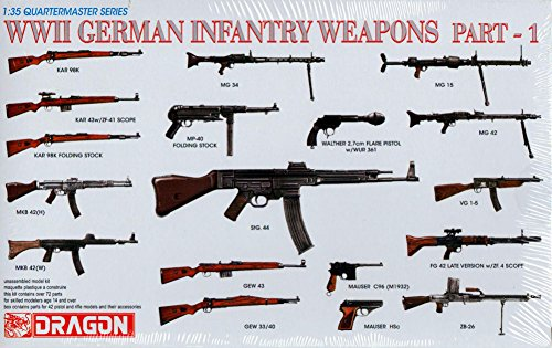 Dragon Models 1/35 WWII German Infantry Weapons Part 1 Dragon Model Kits - Dragon Figure Model Kit