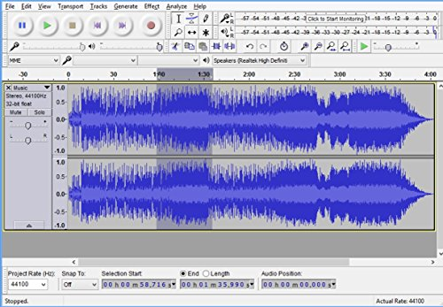Audio Editing and Recording Create and Mix Music and Sound Tracks audio files: WAV, AIFF, FLAC, MP2, MP3, OGG Vorbis For Windows + Mac speed & pitch effects Edit Copy Paste Delete remove noises - Image 6
