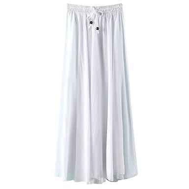 Vectry Falda Plisada Mujer Faldas Largas Verano Faldas Mujer ...