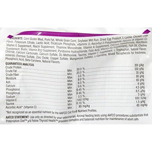 Hill's Prescription Diet y/d Feline Thyroid Health Dry Cat Food, 8.5-lb bag