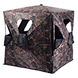 Tangkula Ground Hunting Blind Portable Deer Pop Up Camo Hunter Weather Proof Mesh Window