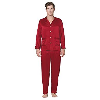 19316f77a9 Intimo Men s Classic Silk Pajamas at Amazon Men s Clothing store  Silk  Pajamas For Men