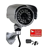 VideoSecu Outdoor Day Night IR Bullet Security Camera Infrared Weatherproof CCTV Home 1/3″ Color CCD 420 TV Lines Wide Angle Lens with Free Power Supply A71 image