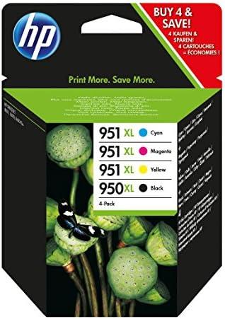 HP 950XL/951XL Negro, Cian, Amarillo cartucho de tinta: Amazon.es ...