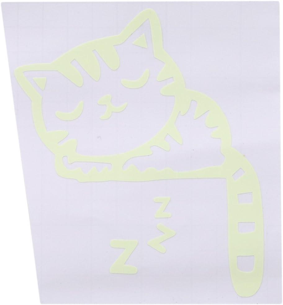 EJY Autocollant Mural Fluorescent Sculpt/é Lumineux Chat Mignon Commutateur Stickers Muraux D/écoration Murale Chambre de B/éb/é Enfant