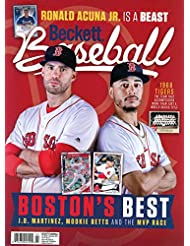 Beckett Baseball Card Monthly Price Guide Value Mag Nov 2018 JD Martinez M Betts