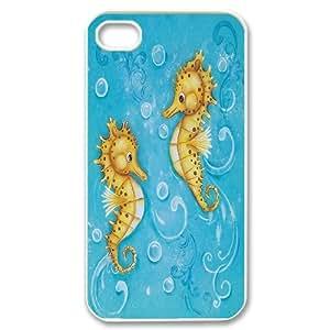 [QiongMai Phone Case] For Iphone 4 4S case cover -Sea Stars and Sea dragon-IKAI0448301