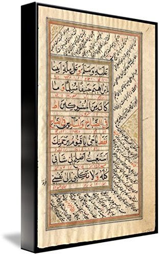 Wall Art Print entitled Islamic Prayer Book Indian C 1775 6 by Celestial Images by Imagekind