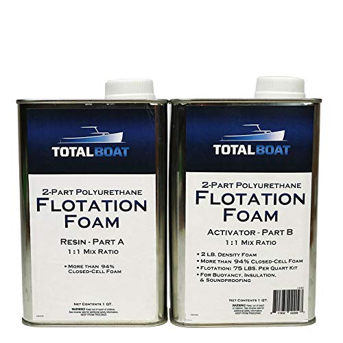 TotalBoat Liquid Urethane Foam Kit 2 Lb Density, Closed Cell for Flotation & Insulation (2 Quart Kit)