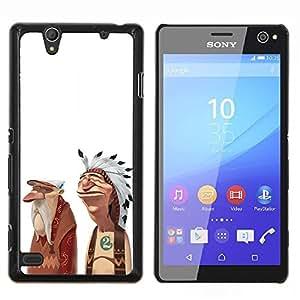 """For Sony Xperia C4 Case , Indio del nativo americano Amistad Arte Hombre"""" - Diseño Patrón Teléfono Caso Cubierta Case Bumper Duro Protección Case Cover Funda"""