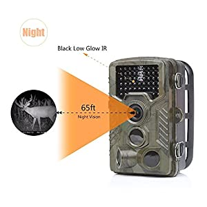 [UPGRADE VERSION] Homestec Hunting Trail Game Camera - Infrared Scouting Cameras 16MP 1080P Detection Range 80ft Night Vision 65ft IP56 Waterproof