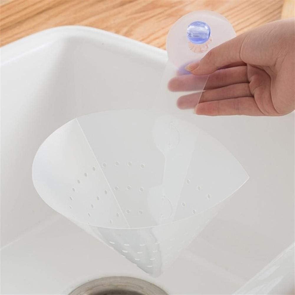 Küche Faltbare Filter Abtropffläche Absaugung Sink Storage Basket Antiblockier Funnel Flexible Lebensmittel Seiher Saft Getrennt Abtropffläche (Color : 1 PC) 1 Pc