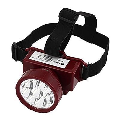 AC 110V-220V US Plug plastique 9 LED Torch Headlamp White Light Red