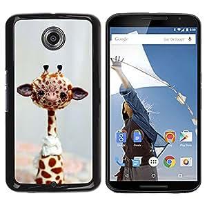 Qstar Arte & diseño plástico duro Fundas Cover Cubre Hard Case Cover para Motorola NEXUS 6 / X / Moto X Pro ( Giraffe Stuffed Animal Africa Toy Wild Free Art)