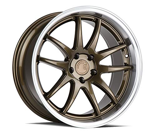 AodHan DS02 Wheel - Bronze w/Machined Lip: 18x9.5 Wheel Size; 5x114.3 Lug Pattern; 73.1mm Hug Bore; 22mm Off Set.