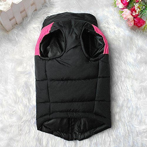 Didog Cold Weather Dog Warm Vest Jacket Coat,Pet Winter Clothes for Small Medium Large Dogs,8, Pink,4XL Size by Didog (Image #2)