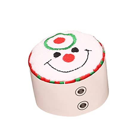 OULII Toalla de algodón de Navidad pastel modelado paño elegante regalo para la decoración de Navidad