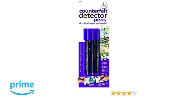 Cathedral Counterfeit Note Detector Pen (Pack of 3): Amazon.es: Oficina y papelería