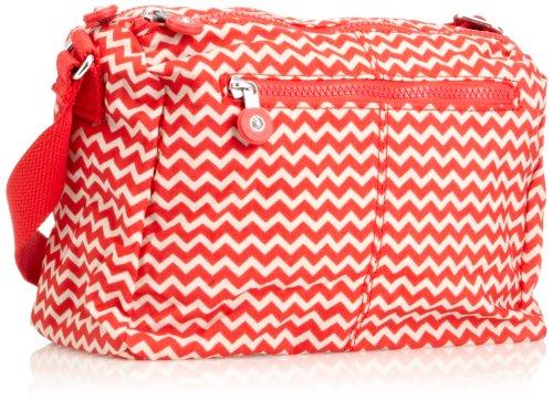 Kipling Women's Reth Shoulder Bag One Size Chevron Red Pr