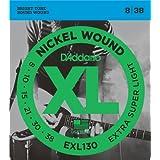 D'Addario EXL130 Nickel Wound Electric Guitar Strings, Extra-Super Light, 8-38