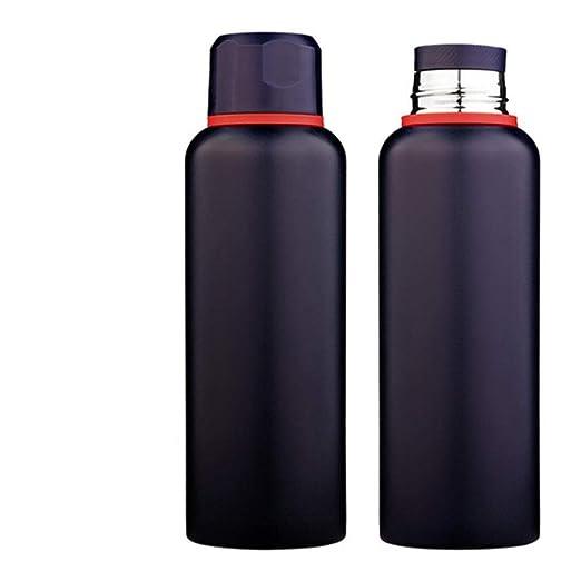 Botella de agua con aislamiento al vacío, matraz de vacío de ...