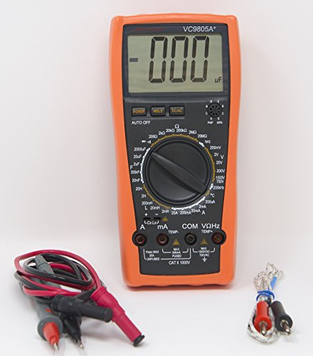 Sinometer VC9805A+ 30-Range Digital Multimeter & LCR Meter With a Rubber Holster for Protection, High Accuracy by Sinometer (Image #3)