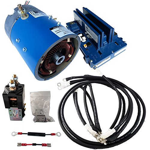 Golf Cart Motors - EZGO Motor & Controller for mainly Speed : Regen PDS Model : 18-24 mph & +20%Torque - 170-505-0001 Motor w/ 400 Amp Controller (Blue Option) - includes Solenoid & Wire kits (400 Amp Controller)