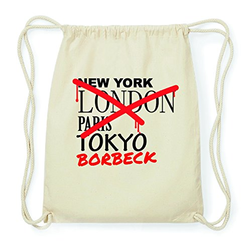 JOllify BORBECK Hipster Turnbeutel Tasche Rucksack aus Baumwolle - Farbe: natur Design: Grafitti FRfaggmS