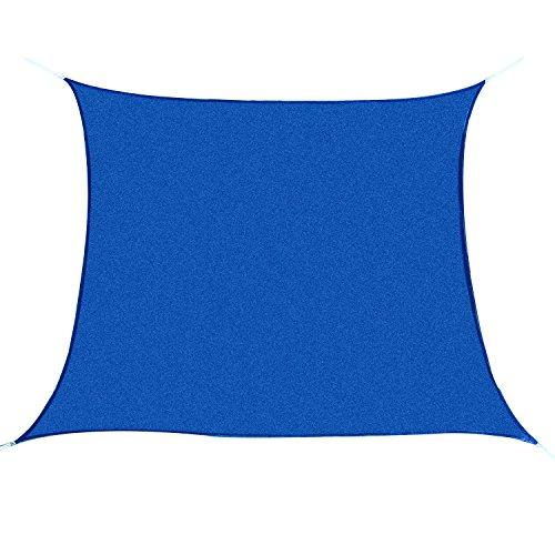 Outsunny Rectangle Outdoor Patio Sun Shade Sail Canopy, 20 x 16-Feet, Blue