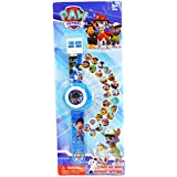 Paw Patrol Projection LED Digital Watches Children Cool Cartoon Watch Kid Birthday Gift Disney Boy Girl Clock Toy gift