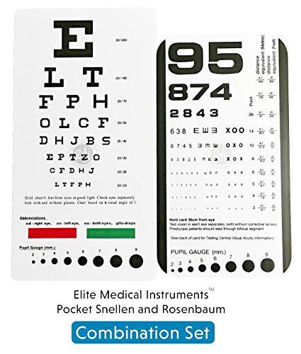 image regarding Rosenbaum Chart Printable known as EMI Rosenbaum AND Snellen Pocket Eye Charts - 2 Pack